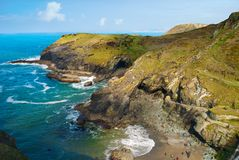 Tintagel, Cornwall in the United Kingdom. Stock Images