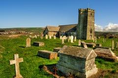 Tintagel Farny kościół HDR zdjęcia royalty free