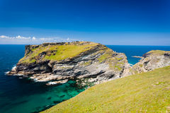 Tintagel Head Cornwall England Royalty Free Stock Photography
