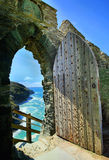 Tintagel kasztel Cornwall Anglia Zdjęcia Royalty Free