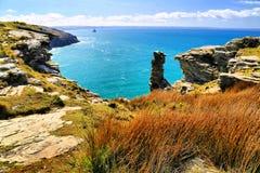 Tintagel kasztel Cornwall Anglia Zdjęcia Stock