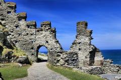 Tintagel kasztel Cornwall Anglia Fotografia Stock