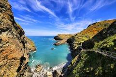 Tintagel kasztel Cornwall Anglia UK Zdjęcie Royalty Free
