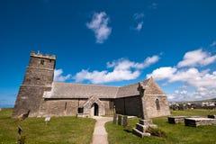 Tintagel kasztelu kościół Zdjęcie Royalty Free
