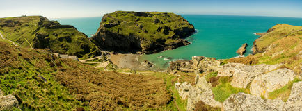 Tintagel Panorama Royalty Free Stock Images