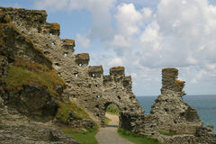 Tintagel Schloss Stockfotos
