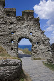 Tintagel-Schloss Stockbild