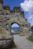 Tintagel slott Fotografering för Bildbyråer