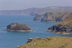 Tintagel w Cornwall Zdjęcie Royalty Free