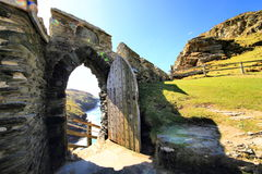 Tintagelkasteel Cornwall Engeland Stock Foto's
