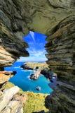 Tintagelkasteel Cornwall Engeland Stock Afbeelding