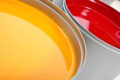 Tintas da imprensa de impressão, magenta, amarela imagens de stock royalty free
