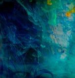 Tintas de fundo abstratas da cor na água Fotos de Stock Royalty Free