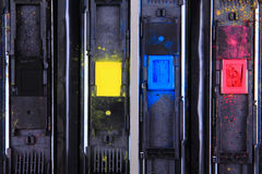 Tintas del cmyk del color Fotos de archivo libres de regalías