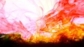 Tintas del color en fondo de la abstracción del agua almacen de video