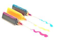 Tintas multicoloras Foto de archivo