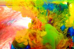 Tintas na água, abstração da cor, explosão da cor Foto de Stock
