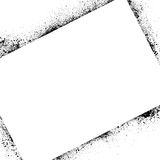Tinte befleckt Rahmenquadrat Stockfotografie