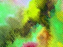 Tinte colorido hermoso de la rama de la primavera del fondo del extracto del arte de la acuarela stock de ilustración