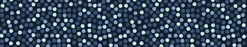 Tinte de los azules añiles por todo modelo de la frontera del lunar Repetición inconsútil libre illustration