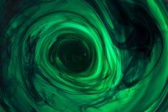 Tinte in der Wasserspiralenzusammenfassung lizenzfreie stockfotos