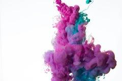 Tinte im Wasser stockfoto