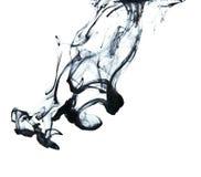 Tinte im Wasser Lizenzfreie Stockfotos
