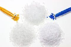 Tinte polimérico Colorante para los plásticos Pigmento en los gránulos Foto de archivo