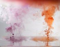 Tinte und Wasser Stockfotografie