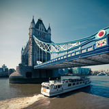 Tinted picture of Tower Bridge in London Stock Image