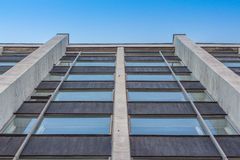 Tinted windows urban building stock image