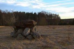Tintement d'Eichelburger, un culte germanique antique et site de collecte images libres de droits