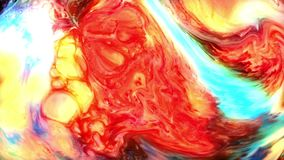 Tinten-Farbenexplosion der abstrakten Kunst explodieren Turbulenz stock video