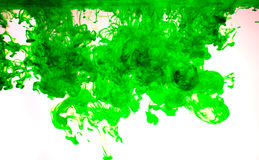 Tinten im Wasser, Farbabstraktion Stockfotos