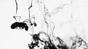 Tinten-Rauch im Wasser stock video