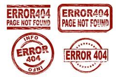 Tinten-Stempelsatz des Fehlers 404 lizenzfreie abbildung