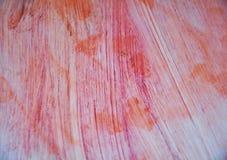 Tinten van waterverf de roze oranje witte vlekken De abstracte achtergrond van de verfwaterverf stock foto's