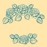 Tintenblumenrahmen lizenzfreie stockbilder