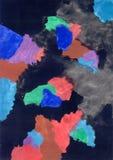 Tintenblut fließt Stock Photo