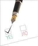 Tintenfeder und Wahlformular lizenzfreie abbildung