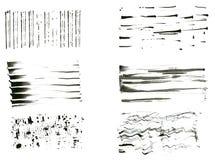 Tintenpinselset Stockbilder