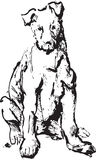 Tintenskizze des Hundes Stockfotos