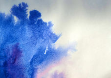 Tintenstellenverbreitungen auf Papier stockbilder