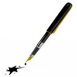 Tintenstift und der Fleck, 3D Stockfotografie