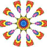 Tintenstrahl mit fünf Farben Dispening machile Stockfotos