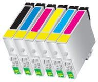 Tintenstrahlkassette für Luftblasestrahl der Drucker Stockfotos