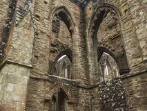 Tintern修道院废墟,一个前教会在威尔士 免版税库存照片