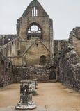 Tintern修道院废墟,一个前教会在威尔士 库存照片