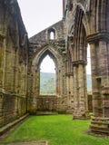 Tintern修道院废墟,一个前教会在威尔士 免版税图库摄影
