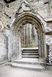 Tintern Abbey. Doorway to Tintern Abbey Wales stock photo